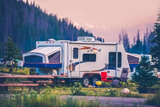 What are the different types of Caravans and Camper Trailers?