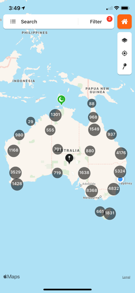 wikicamps app map
